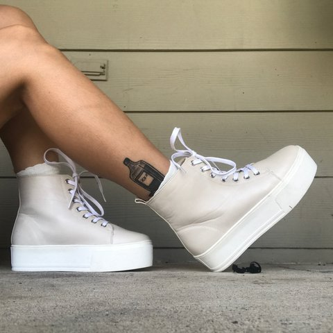 2263f2496e5 Off White Chunky Platform Sneakers Next to new. 1.5
