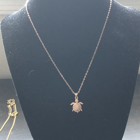 Rose Gold Turtle Necklace From Ravenbeads Designs 5 Depop