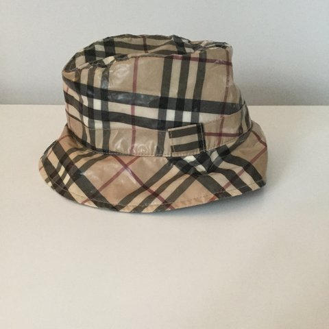 7e52441d674 VINTAGE BURBERRY LONDON BUCKET HAT SIZE SMALL S 9 10 cons a - Depop