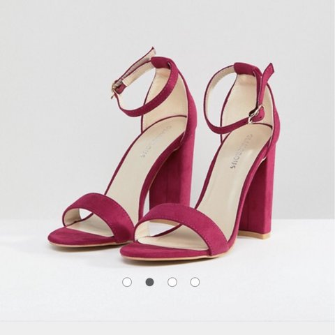 b23de950a @mollydoylee. last year. Cleethorpes, United Kingdom. Fuschia pink barely  there block heeled sandals by Glamorous.
