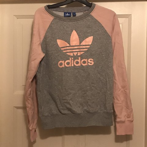 8d999e3a5 Adidas originals sweatshirt pink and grey  originals perfect - Depop