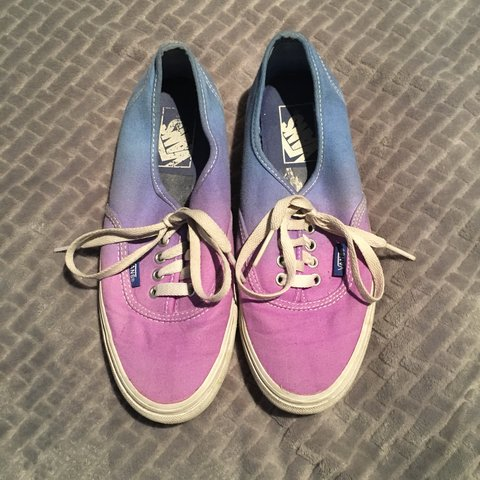 a2ebb70d45 Purple and blue ombre Vans in UK 4.5. Bought years ago and - Depop