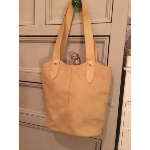 a429a46e23 🔥🔥REAL fur nude Ted Baker handbag.🔥🔥Small faded patch on - Depop