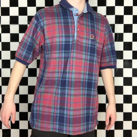 ee73957a @shopjd. in 44 minutes. Columbus, United States. vintage tommy hilfiger  golf plaid polo shirt • size men's large ...