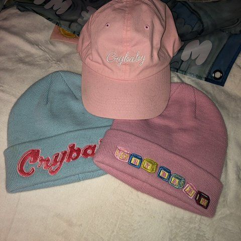6881f601419c0 melanie martinez crybaby block hat 🖤 the blue   dad hat are - Depop