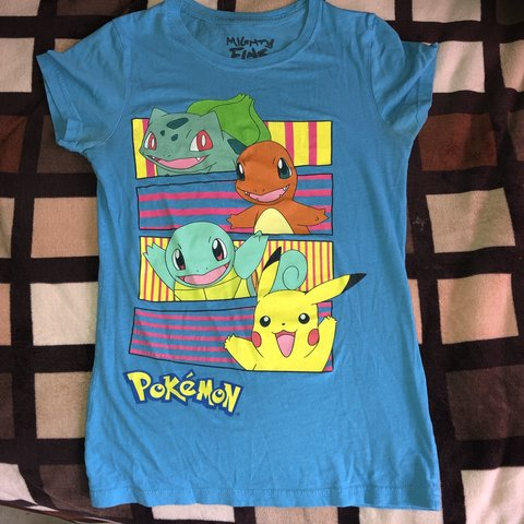523e5446d sky blue Pokémon t-shirt SIZE SMALL. 100% COTTON great for - Depop