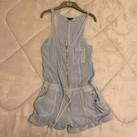 1c0cf0f043 Topshop playsuit baby blue - Size 10 ✨ Please check out my - Depop