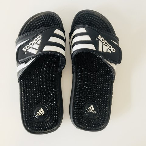f3e6c4c75 ADIDAS SLIP ONS Shipping is  8 Message me if you have  7 - Depop
