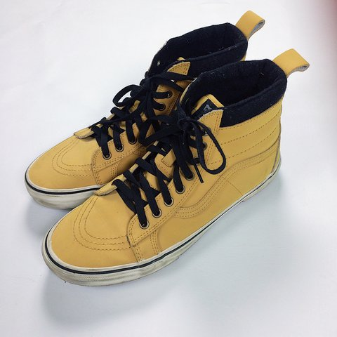c0251ed628 Vans Sk8 HIs Wheat colorway. Excellent condition. Perfect or - Depop