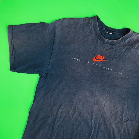 "58cbf87be @thriftstorepunk. last year. Wilson, United States. Vintage 90s Nike  embroidered logo ""There is no finish line"" ..."