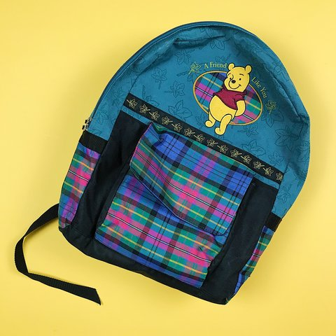 fcf9904a6a1 Vintage 90s Winnie the Pooh backpack   great pre owned   a   - Depop