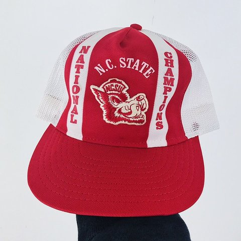 cdb706d9c5341 80s vintage Made in USA North Carolina State University hat - Depop