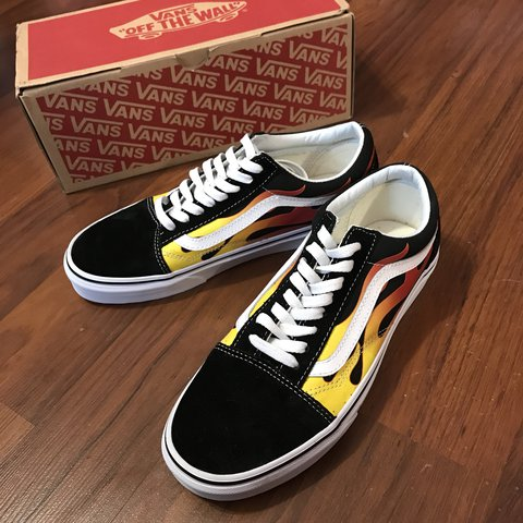 33f9fb39b33f Vans Flame Old Skool from the Thrasher collection. Men s 8  - Depop
