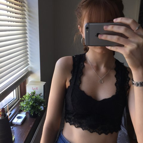 e87bff7712 Urban outfitters racer back lace bralette 💗 From Pins and - Depop