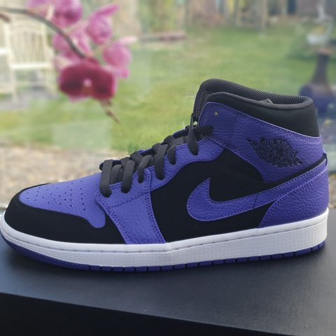 save off 227e4 469ae  melarkems. 3 months ago. Solihull, West Midlands, United Kingdom. Nike Air  Jordan 1 Mid Purple (Black Dark ...