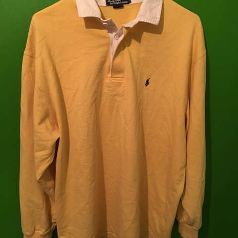 699a0e56c1c @gunnarbe. last year. Portland, United States. Yellow Polo Ralph Lauren  Rugby Longsleeve shirt.