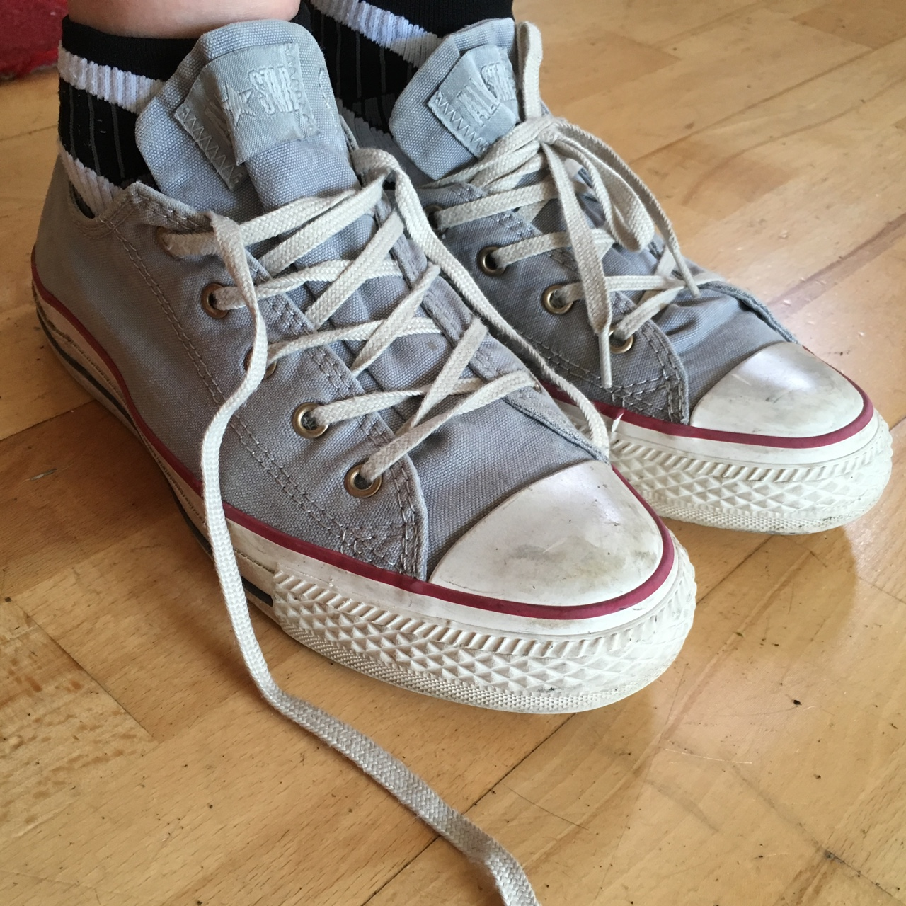 Converse All Stars authentic low ankle size 4 Depop
