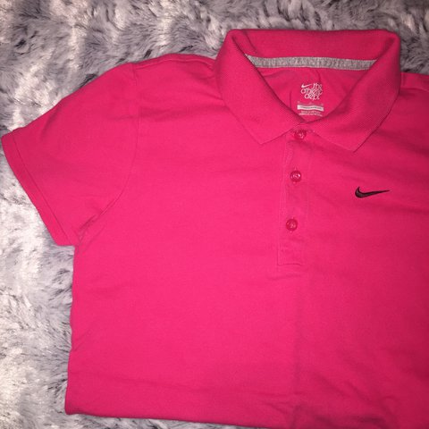 new concept 0990e df1c7 PINK NIKE TOP - GREAT CONDITION  polo  top  nike  shirt - Depop