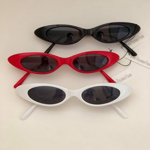 7abefbf2faf Slim retro cat eye sunglasses . Available in 2 classic to ~ - Depop