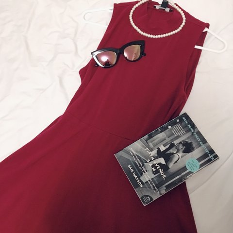 079d1262f5 ️FREE SHIPPING‼️Sleeveless Wine-Colored Skater Dress- 0 ‼