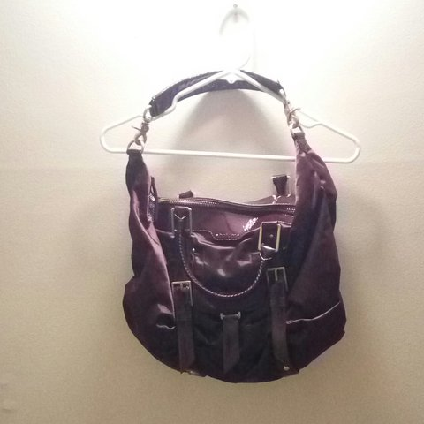 ae72fa24ecc Botkier Sasha Medium Duffle bag. wine colored ruched bag. to - Depop