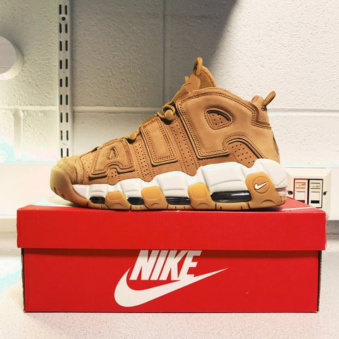 d7ee0dfb66 Nike air more uptempo 96 premium flax / wheat uk size 8 worn - Depop