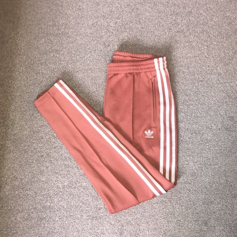 2de65f2a @jacobharveyy. 4 hours ago. Livingston, United Kingdom. Adidas originals  silky light pink track pants with white ...
