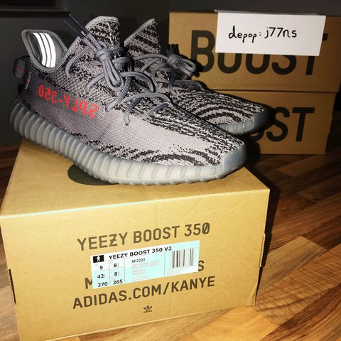 d6c51f15c5a20 Adidas Yeezy Boost 350 V2  Beluga 2.0  Size 8.5 UK From EU - Depop