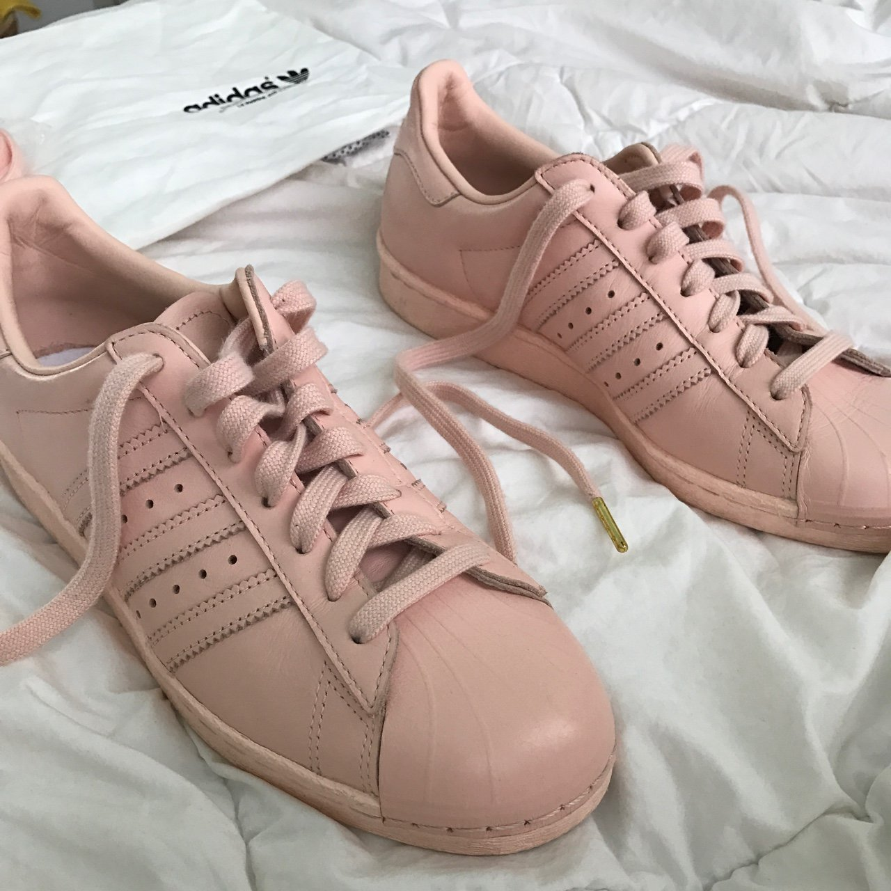 adidas blush and gold