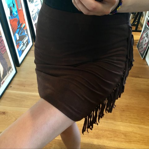 04df1ca38c @newtrenchcoat. 3 months ago. London, United Kingdom. Brown suede look Forever  21 mini skirt ...
