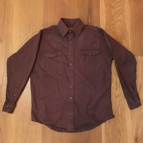 42cf7c89 @newtrenchcoat. last year. London, United Kingdom. Authentic Walls Ranch  Wear vintage cowboy western shirt in brown. Size mens ...
