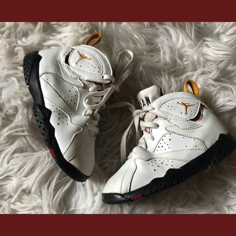 53fa3452f17 jordan retro 7 td sneakers in gently used condition. size - Depop