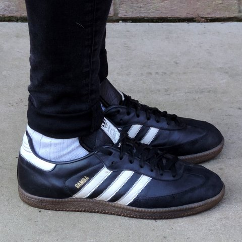 03df7260c1df ADIDAS SAMBA trainers vintage 90 s UK8 (AS7) When introduced - Depop