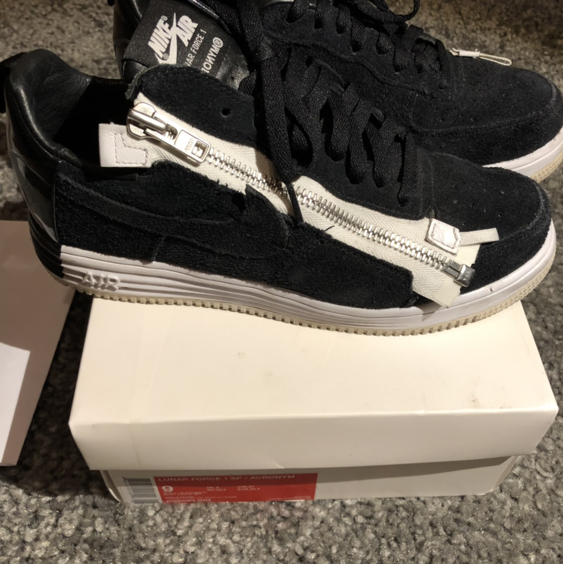 Very Rare Acronym X Nike Air Force 1 Lunar Black