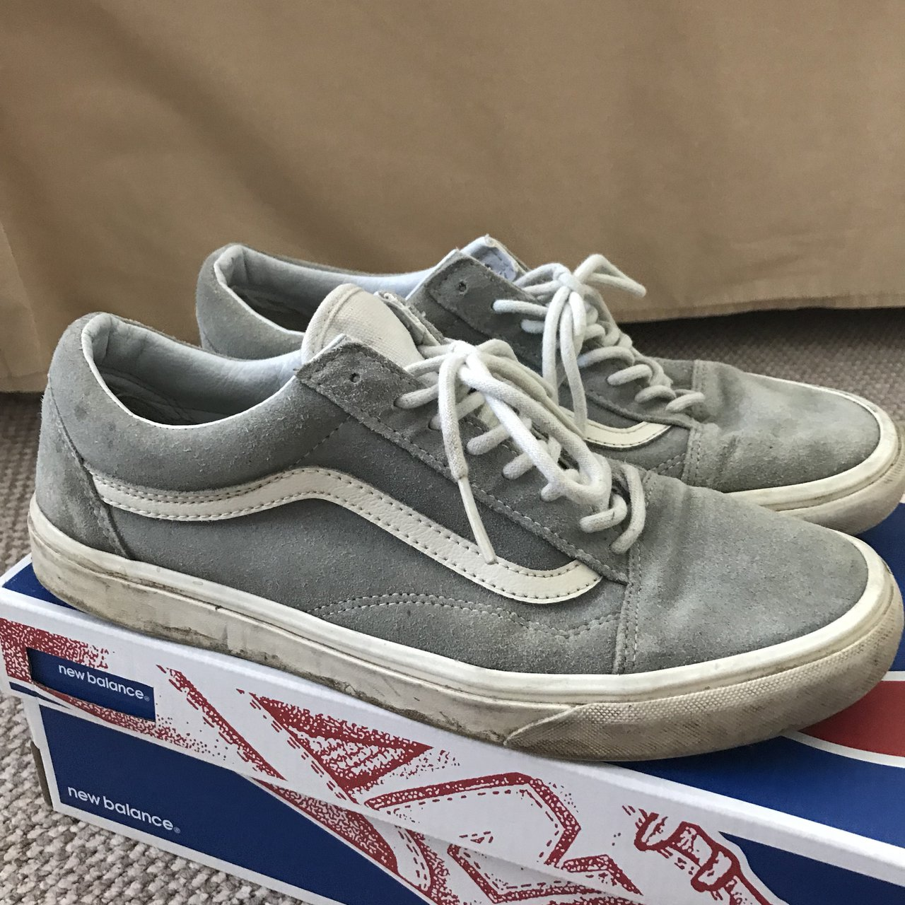 2000e320abbfaf Men s Grey Vans Size 9. Decent condition 7 10 Lots more in - Depop