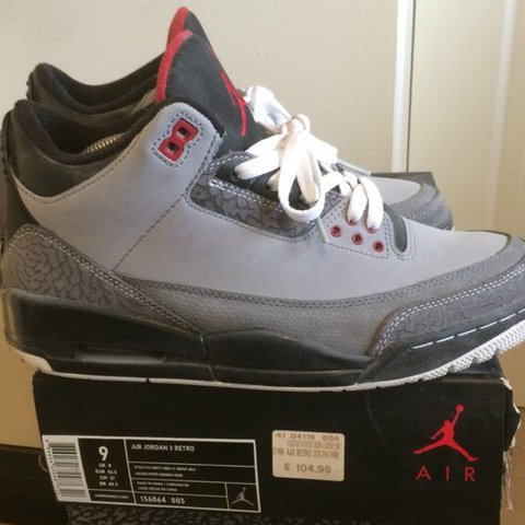 631f39fa8d257d  lifeofrjh. 2 years ago. United Kingdom. Air Jordan 3 stealth. Size uk 8.