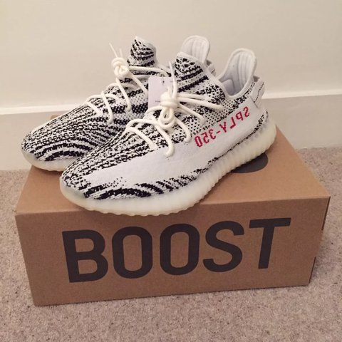 1d662ed10b6fb Adidas Yeezy Boost 350 V2 Zebra Size UK 11  Worn once for a - Depop