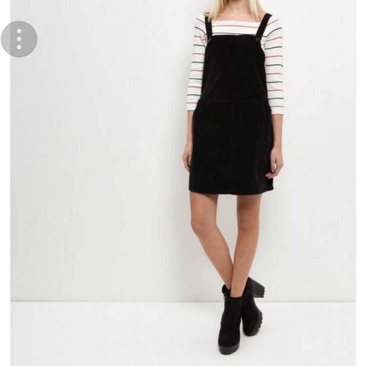 2019 authentic 2019 discount sale cheap for discount Black cord new look pinafore dress. Size16. #newlook... - Depop