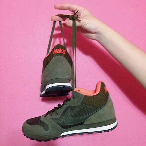 Brand  Nike s Size  US 8.5 Colors  Forest green and peach - Depop 985e4b9c1
