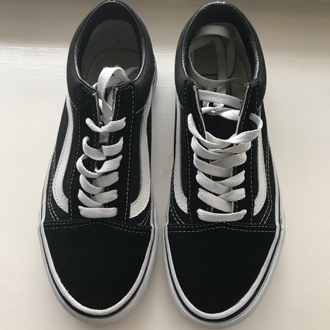 f6a9023c79b Old skool vans. Will sell for cheaper on vinted.Us womens 6. - Depop