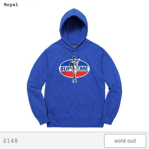 39637917 Brand New Supreme / Hysteric Glamour COLLAB Hoodie in Royal - Depop