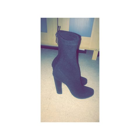 c15a5eb8fd13 Boohoo Sock boots size 5 £15 Ono There a bit big for me I - Depop