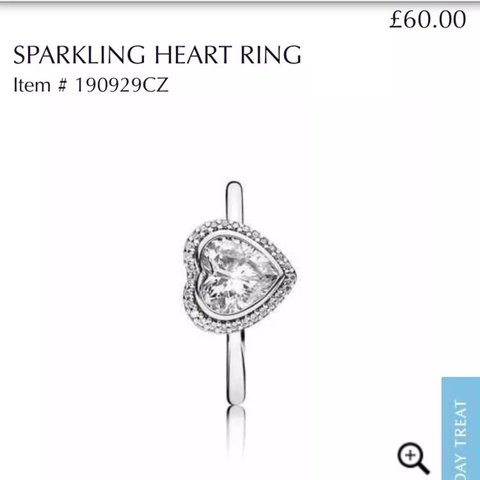 Pandora Ring Size 51 Equivalent To K I Think As It Fits Depop
