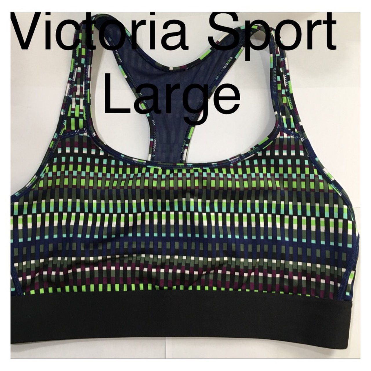 d74f7107b56d1 Gently used Victoria Sport sports bra. Size large. Lime and - Depop