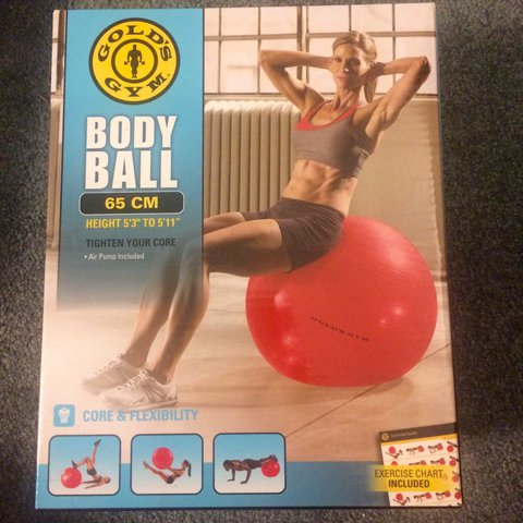Sgoog96 2 Years Ago East Haven United States Golds Gym Body Ball 65 Cm