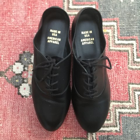 2d72061df5 American Apparel Bobby shoes in Black. Size 6. Slightly wore - Depop