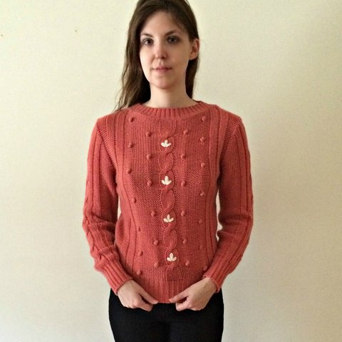 Vintage 1980s dusty rose pink sweater from Licorice features - Depop 1ea476395