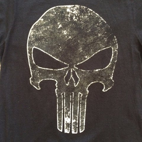 0a65c57bb @orphanedapparel. 4 days ago. Independence, United States. Punisher black  short sleeve t-shirt features a distressed graphic ...