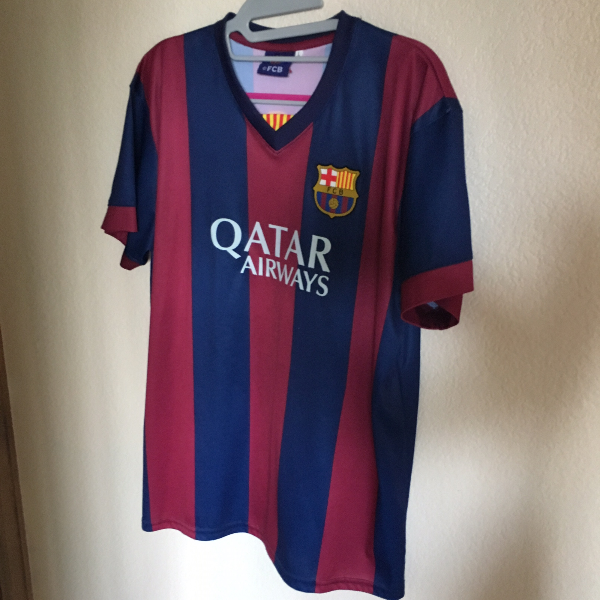 huge discount f5f7c c77cc FC Barcelona Messi soccer jersey. Brand is FCB in a... - Depop
