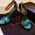 a5c8b3893 REDUCED...!!!!Authentic Gucci green suede sandals... - Depop